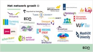 logo's betrokken organisaties Expertiselab Jonge Mantelzorgers